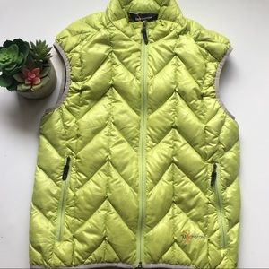 Jackets & Blazers - Moonstone lime green puffy vest size small